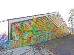PEACETU (Rodrigo Vitorio Lisboa) - Kunst på tennishallen